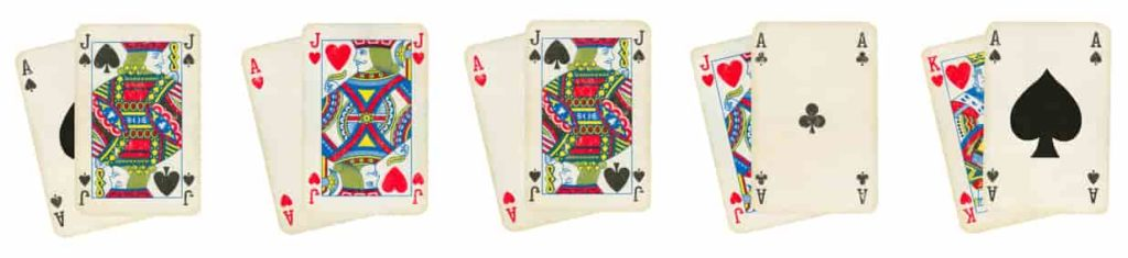blackjack winning cards